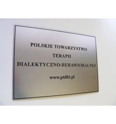 Grawerowana tabliczka firmowa z laminatu 20x30cm grubość 1,6mm