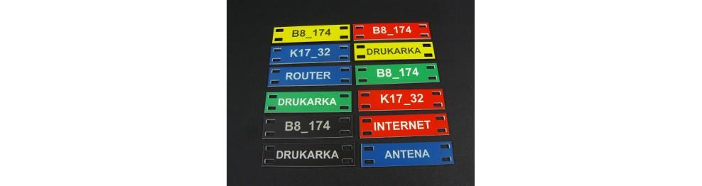 Tabliczki etykiety na kable