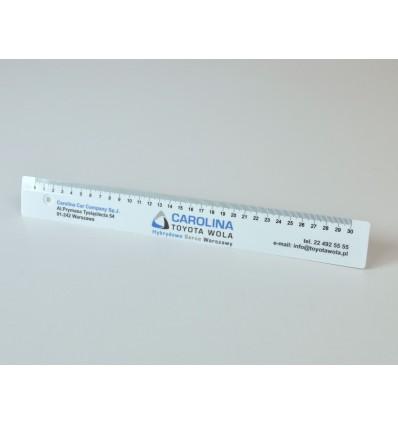 Linijka reklamowa plastikowa z nadrukiem UV - 30 cm
