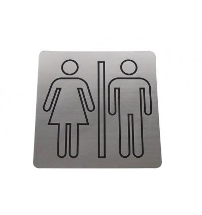 tabliczka TOALETA WSPÓLNA  laminat 10x10cm
