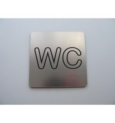 tabliczka WC  laminat 10x10cm