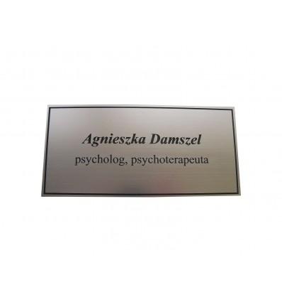 Grawerowana tabliczka na drzwi z laminatu 10x20cm grubość 1,6mm