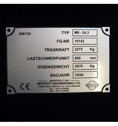 Grawerowana tabliczka znamionowa z laminatu 8x12cm grubość 1,6mm