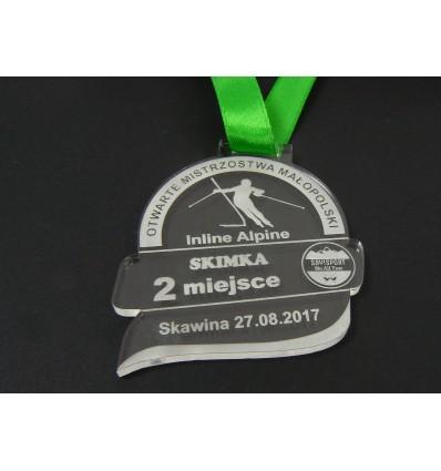 Medal plexi  przeźroczysta 6x7c