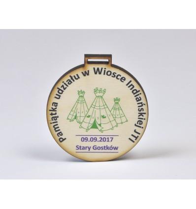 Medal drewniany 8x8cm grubość 5mm