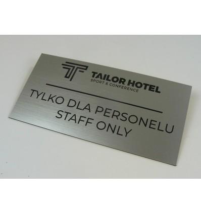 Grawerowana tabliczka na drzwi z laminatu 12x20cm grubość 1,6mm