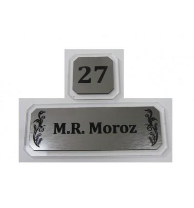 Tabliczka/ wizytówka na drzwi z numerem