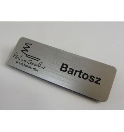 Identyfikator personalny na magnes 70x38mm, grubość 4mm