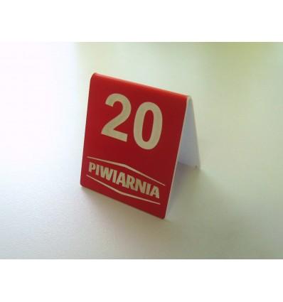 Numerek na stół z logo 6x7cm grubość 1,6mm