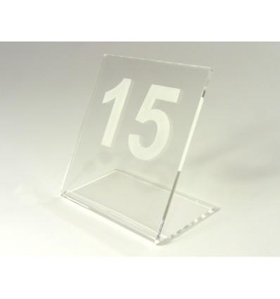 Numerek na stół z plexi przeźroczystej 7x8cm, grubość 3mm