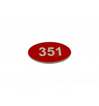 Numer na wieszak szatniowy z laminatu 3x2 cm 4x2,5 cm grubość 1,6 mm