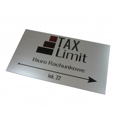 Tabliczka firmowa informacyjna 35x20cm z nadrukiem UV , grubość 1,6mm