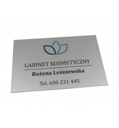 Tabliczka firmowa informacyjna 20x13cm z nadrukiem UV , grubość 1,6mm