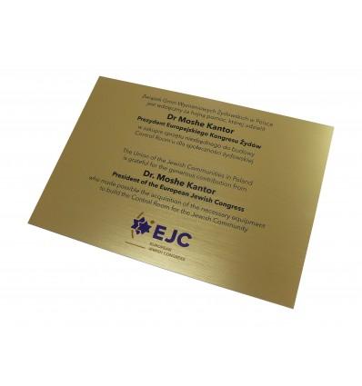 Tabliczka firmowa informacyjna z nadrukiem UV A4 14,8x21 cm, grubość 1,6mm