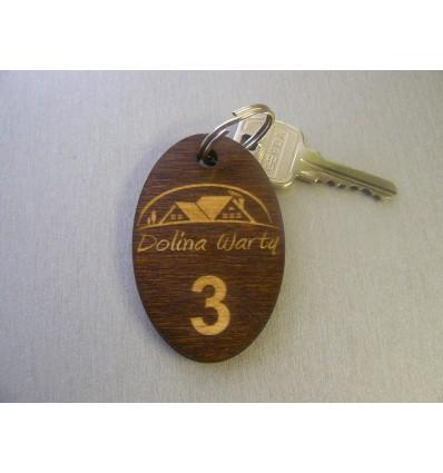 brelok drewniany 4x7cm gr.5mm