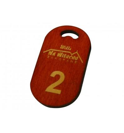 brelok drewniany 4x7cm grubość 5mm