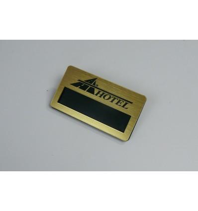 Identyfikator personalny z okienkiem na magnes 70x38mm, grubość 4mm