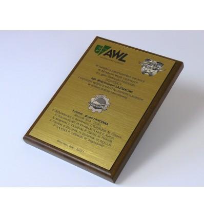 Dyplom okolicznościowy na drewnianym podkładzie - format A5