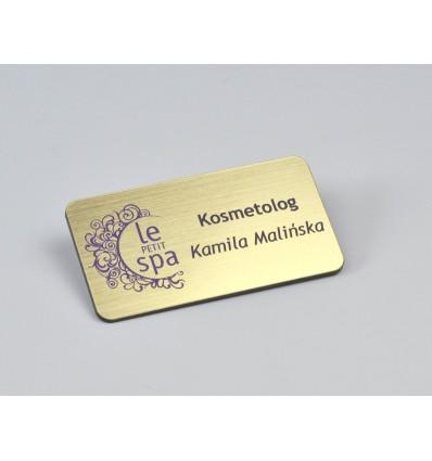 Identyfikator personalny na magnes 65x35mm, grubość 1,6mm