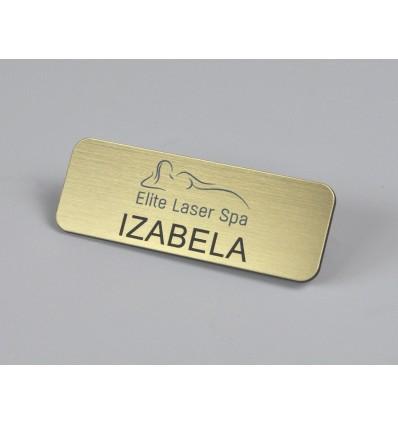Identyfikator personalny na magnes 75x27mm, grubość 1,6mm