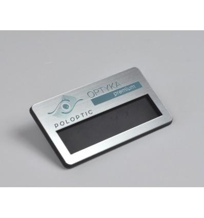 Identyfikator personalny z okienkiem na klips 70x38mm, grubość 4mm