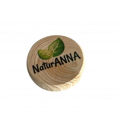 Drewniane magnesy na lodówkę z nadrukiem, sęki świerkowe