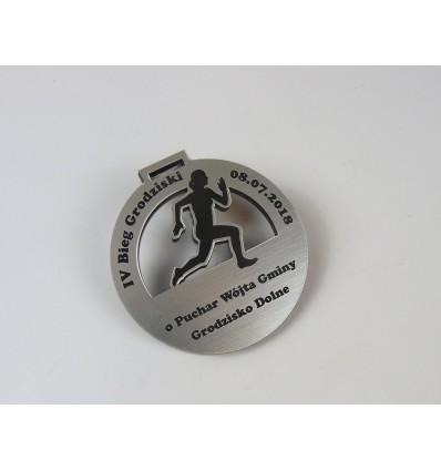 Medal plexi + laminat z grawerem 7 cm grubość 4,6 mm