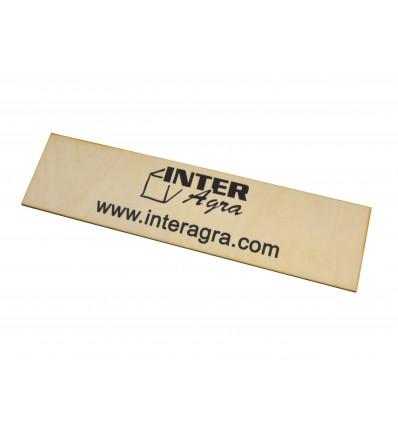 Tabliczka firmowa 40x10 cm z nadrukiem UV, sklejka 5 mm