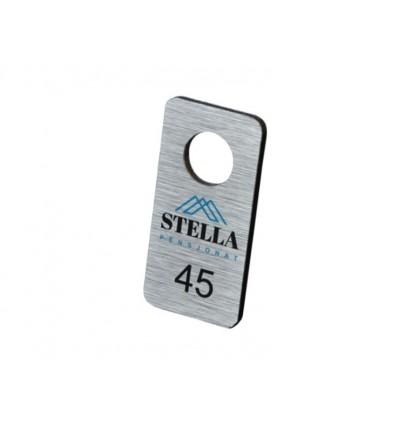 Brelok metalowy 3x6cm grubość 3mm