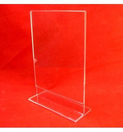 Stojak z plexi przeźroczystej na menu - pionowy _I_