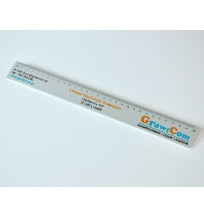 Linijka reklamowa aluminiowa z nadrukiem UV - 30 cm