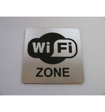 tabliczka WIFI laminat 10x10cm